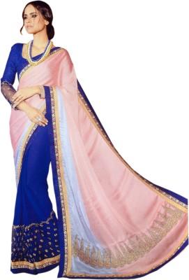 Saaj Self Design Fashion Jacquard, Pure Georgette Sari