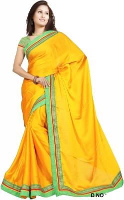Karan Fashion Solid Bollywood Georgette Sari