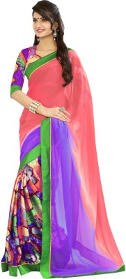 Fab Exclusive Floral Print Daily Wear Georgette Sari