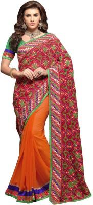 Riva Embriodered Fashion Handloom Georgette Sari