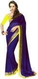 Heer Ganga Solid Fashion Chiffon Saree (...