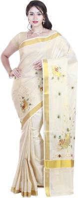 SriSyndicate Embriodered Fashion Cotton Sari
