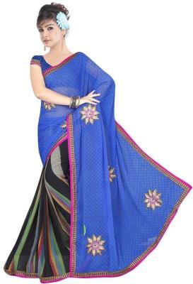 HSFS Embriodered Daily Wear Georgette Sari