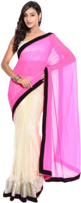 Stylezone Solid Fashion Net Sari