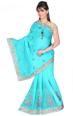 Lime Fashion Self Design Bollywood Lace Sari