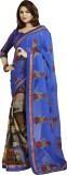 Queenbee Self Design Fashion Georgette S...