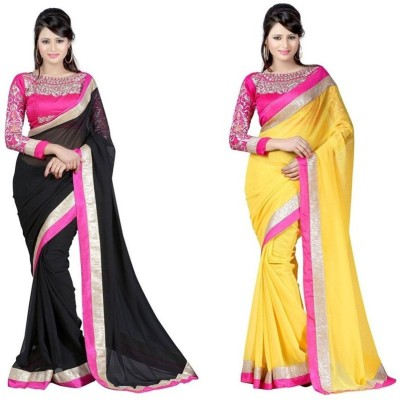 Mahesh Traders Embriodered Fashion Chiffon Sari