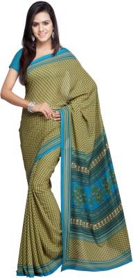 Goodfeel Floral Print Fashion Crepe Sari