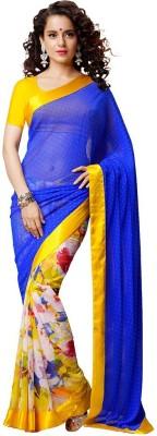 Mysticbeauty Printed Bollywood Chiffon Sari