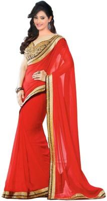 Om Sai Laxmi Creation Embriodered Bollywood Pure Crepe Sari