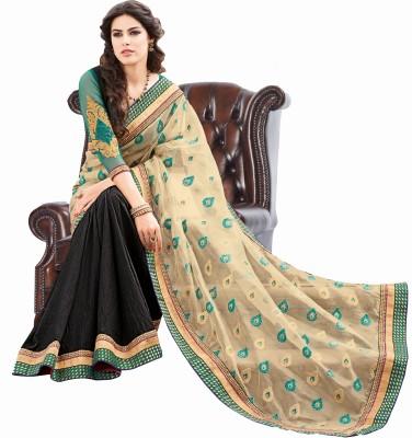 Fashion Boutique Solid Fashion Net Sari