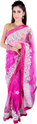 Vogue4all Embriodered Fashion Net Sari