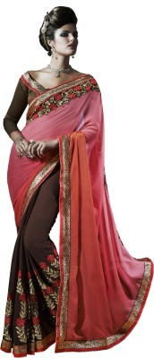 Kalista Fashions Embriodered Bollywood Synthetic Chiffon Sari