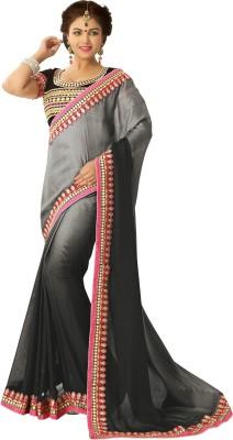 Shop Plaza Embriodered Daily Wear Chiffon Sari