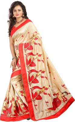 Patricia Embriodered Assam Silk Cotton Slub Sari