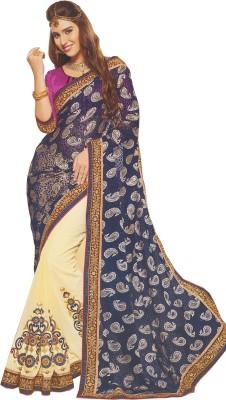 A Square Jodhpur Embriodered Fashion Brasso Fabric Sari