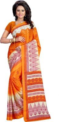 Kalika Geometric Print Fashion Art Silk Sari