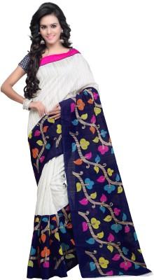 Ganes Printed Bhagalpuri Silk Sari