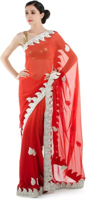 Bazzzar Self Design Fashion Georgette Sari