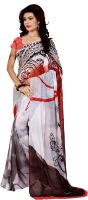 LaazreeFashion Floral Print Bollywood Georgette Sari