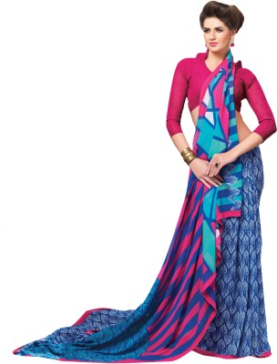 Vachi Graphic Print Fashion Georgette Sari