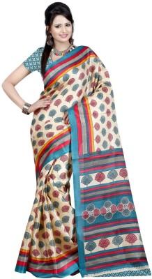 The Fancy Sarees Floral Print Fashion Khadi Sari