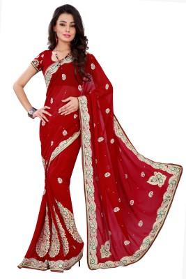 Chandra Silk Mills Embriodered Fashion Art Silk Sari