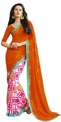 Kabeer Creation Printed Daily Wear Handloom Georgette Sari