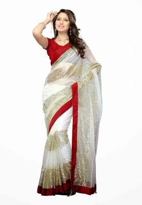 Dancing Girl Plain Bollywood Net Sari
