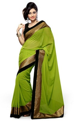 Giftsnfriends Solid Bollywood Georgette Sari