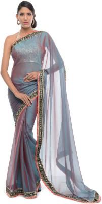 Aarohii Solid Bollywood Georgette Sari