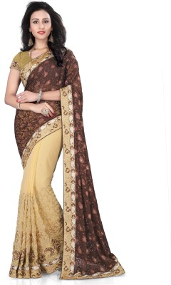Fashion Now Self Design Fashion Georgette Sari