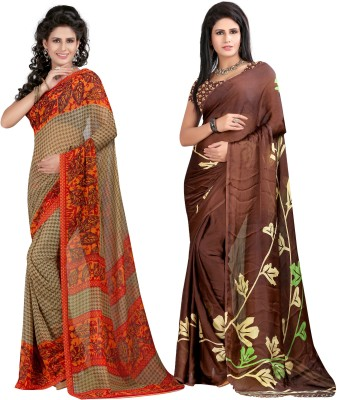 SareeBazaar Printed Fashion Georgette Sari