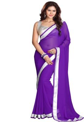 Sourbh Sarees Self Design, Solid, Printed Fashion Georgette Sari