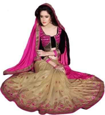 ARsalesIND Embriodered Fashion Pure Georgette Sari