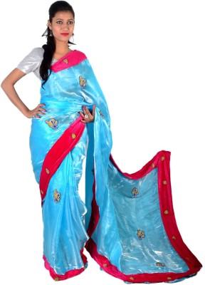 Ak designs Self Design Fashion Tissue Silk Sari