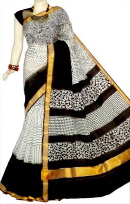 mcls fashion Floral Print Fashion Cotton Sari