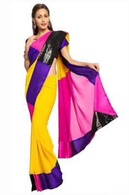 Designersareez Self Design Fashion Georgette Sari