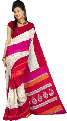 Keshav Fashions Printed Daily Wear Polycotton Sari