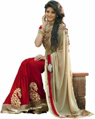 SK Embriodered Fashion Handloom Georgette Sari