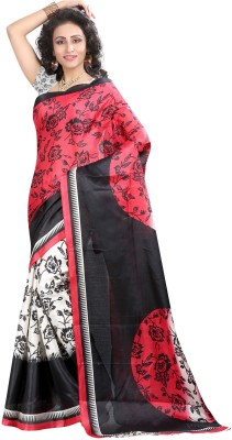 JAY HANUMAN Printed Fashion Poly Silk Sari
