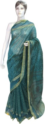 Chirmangal Graphic Print Fashion Chanderi Sari