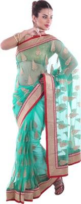 Aumkar Plain Fashion Net Sari