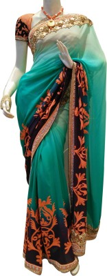 Mamta Boutique Self Design Fashion Georgette Sari