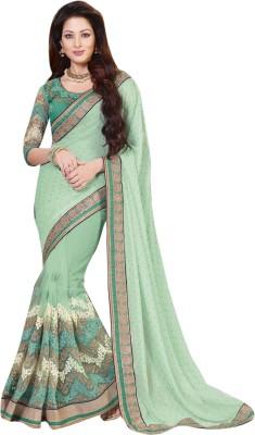 Lajo Printed Bollywood Shimmer Fabric, Net Sari