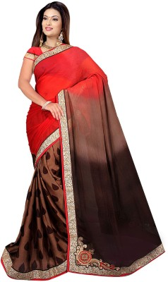 Fashiondodo Self Design Fashion Silk Sari