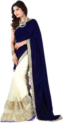 RZ Fashion Plain Fashion Velvet Sari