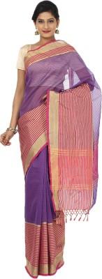 Sevensquare Striped Banarasi Organza Sari