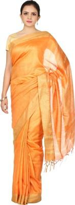 HandiweavesAndPrints Woven Maheshwari Handloom Cotton Slub Sari