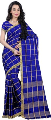 silvermoon Self Design Kanjivaram Polycotton Sari